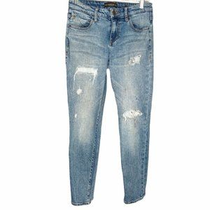 Guess jeans ankle distressed light wash sz 27
